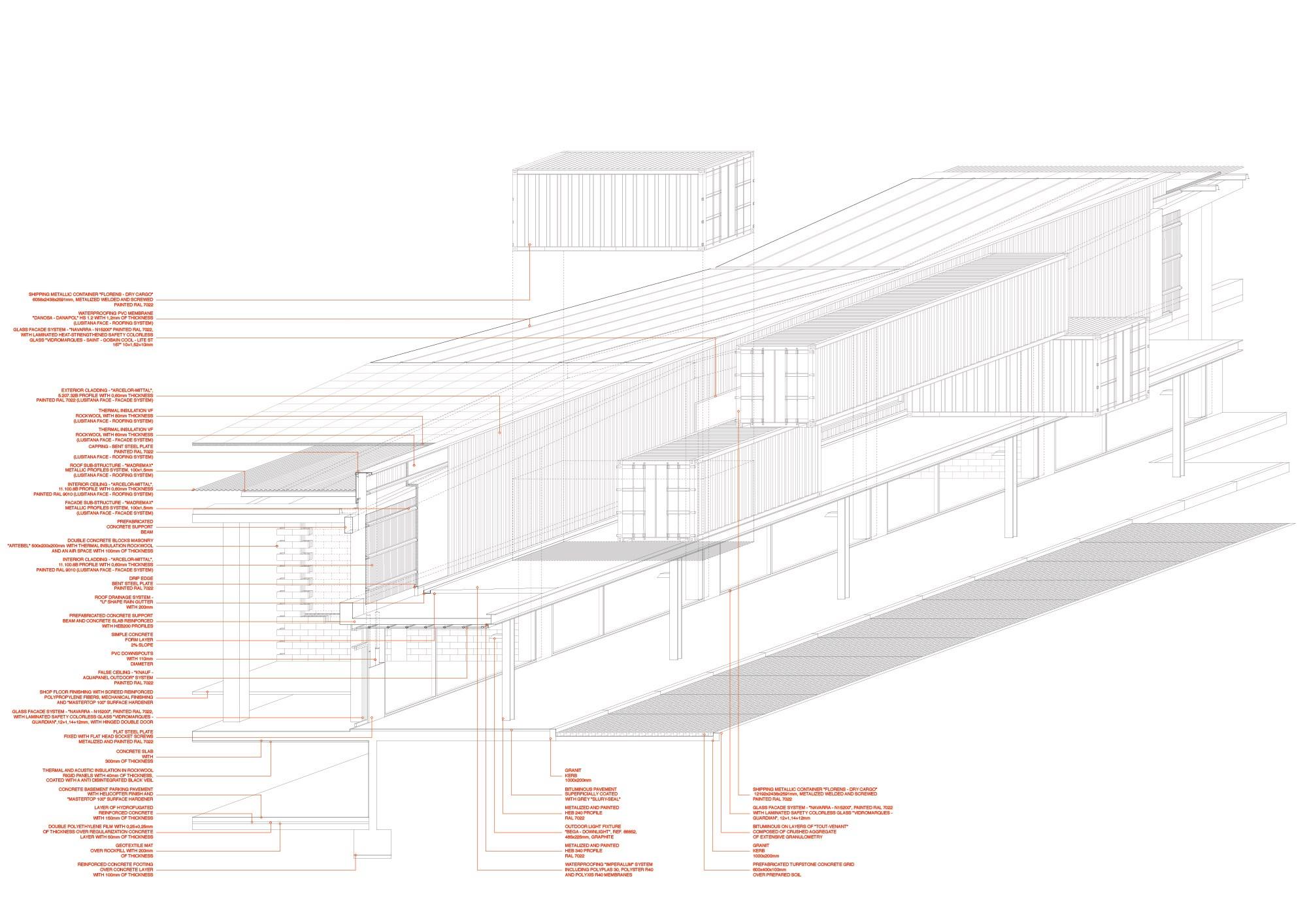 Promontorio Matosinhos Retail Park Simple Trafic Light Container Schematic Design